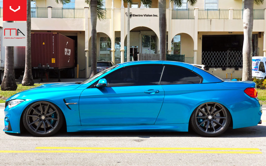 @panetonbomba's BMW M4 Bagged. Riding on Vossen Anthracite HF3 wheels/wrapped in Michelin PS4S tires.